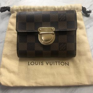 LV Koala Damier Red Wallet